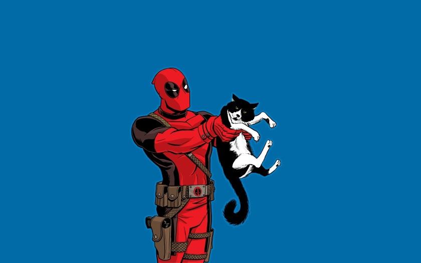 Acho que vi um gatinho... Mas ele não era o Deadpool, não. Se não!