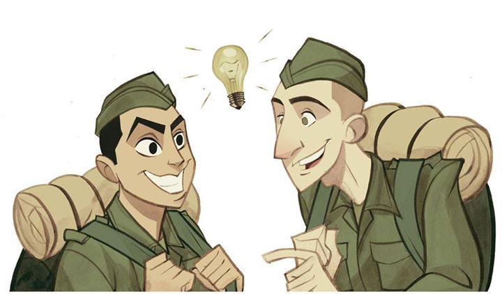 Quem teve a ideia de ir pro exército?