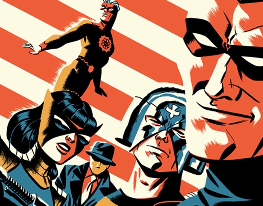 Os personagens da Charlton em Pax Americana