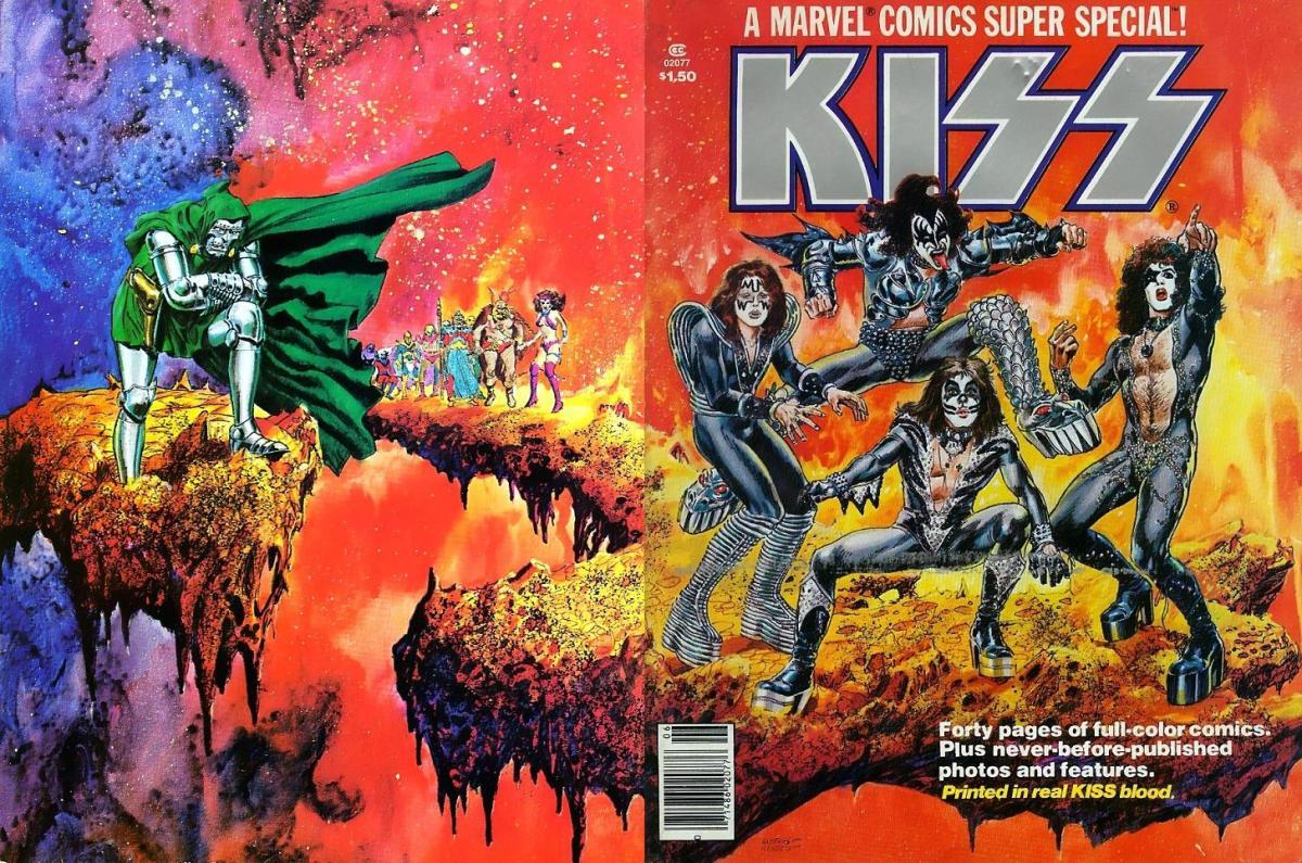 O Dia Em Que o KISS Deu o Sangue Pela Marvel Comics