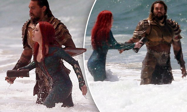 EXCLUSIVE: Jason Momoa and Amber Heard film Aquaman
